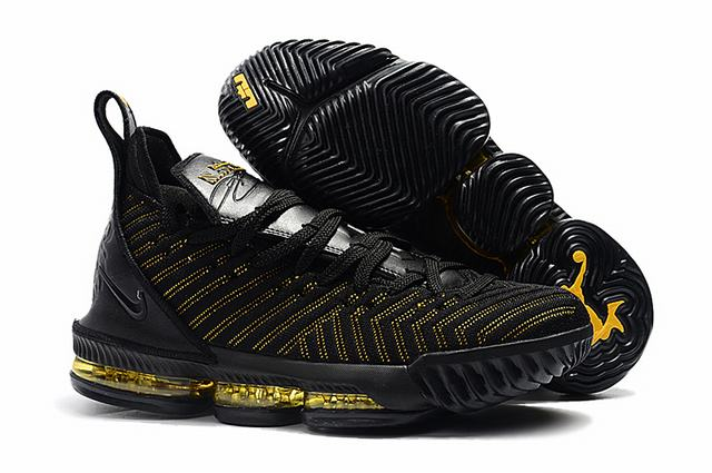 Nike Lebron James 16 Air Cushion Shoes Black Yellow